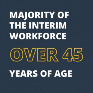 majority of the interim workforce over 45 years of age